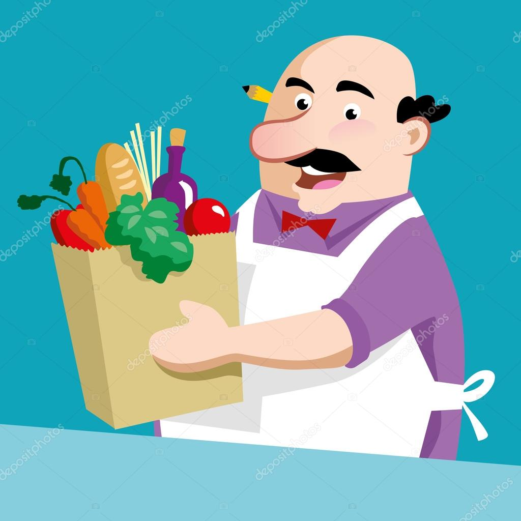shopkeeper cartoon stock vectors royalty free shopkeeper cartoon