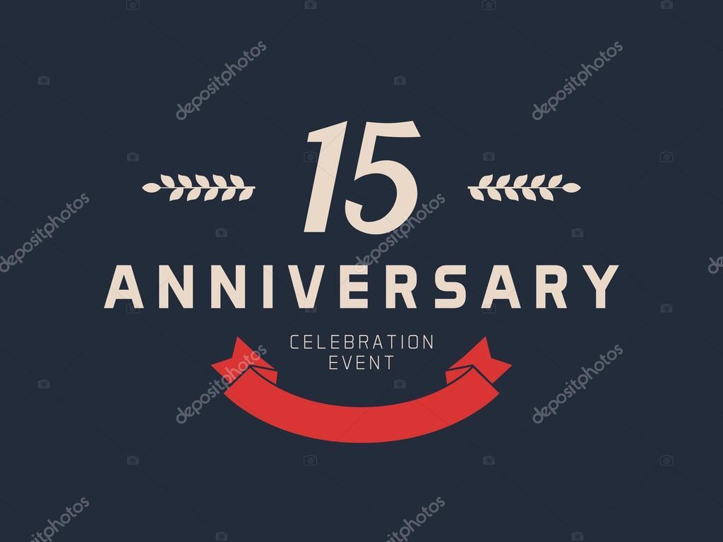 Logotipo Para 15 Anos: Logotipo De Celebración De Aniversario De 15 Años. 15