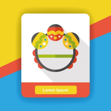 Baby rattle flat icon icon element