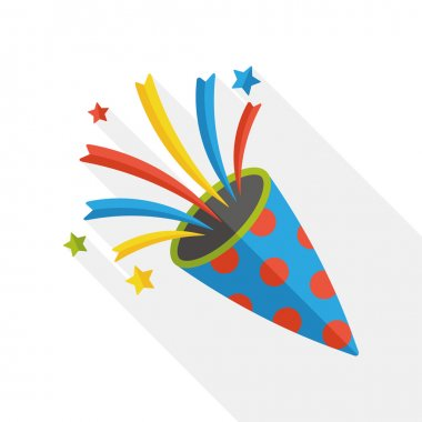birthday party horn flat icon