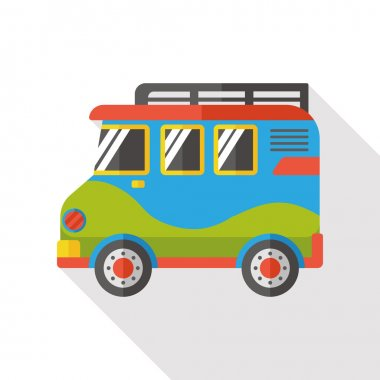 camp van flat icon