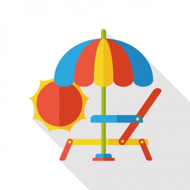 lounge chair flat icon