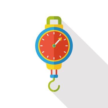 Weighing machine flat icon