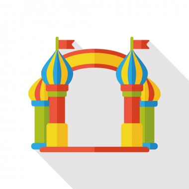 amusement park gate flat icon