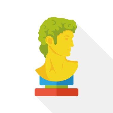 statue art flat icon