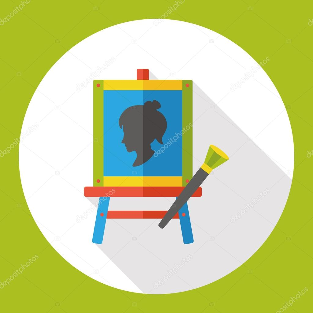 Draw painting flat icon icon element stock vector