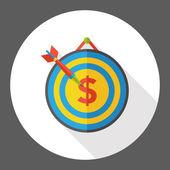 Peníze lukostřelba ploché ikony ikony prvku