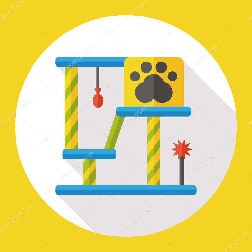 cat tree flat icon icon element