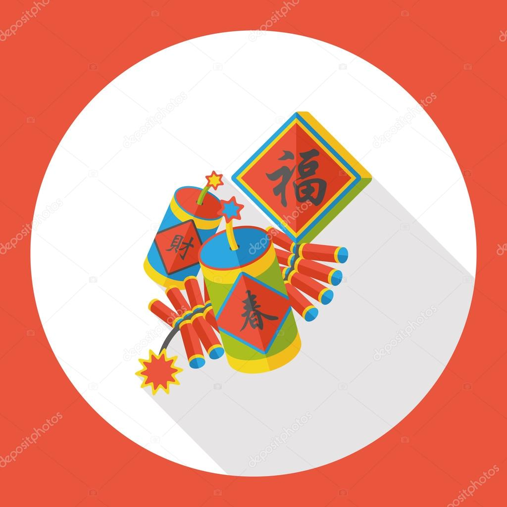 Wish spring comes chinese firecrackers flat icon stock vector wish spring comes chinese firecrackers flat icon vector by yitewang buycottarizona Images