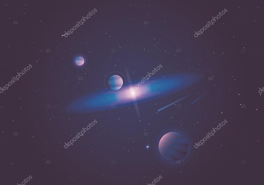 Illustration Minimal Space Wallpaper Beautiful Minimal