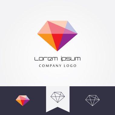flat designed crystal gem shape