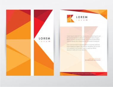 Brochure cover and letterhead template design