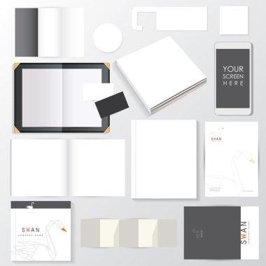 Empty corporate mockup template set