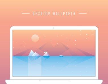 Contemporary conceptual geometric desktop wallpaper
