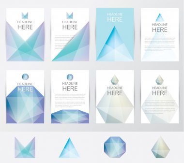 Premium set collection of brochure covers