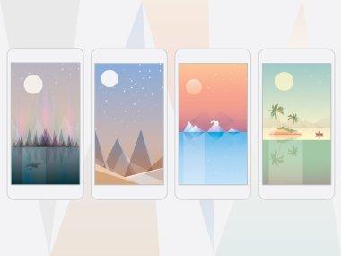 Mobile phone wallpaper landscape designs