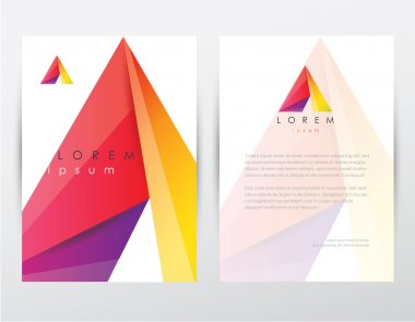 Colorful polygonal template and letterhead design