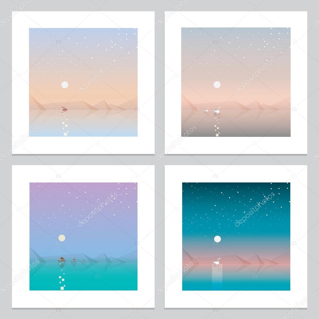 Abstract landscape wallpaper designs