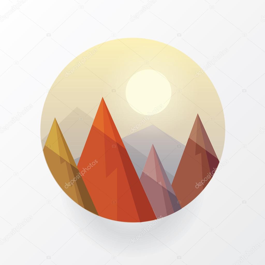 Round landscape icon