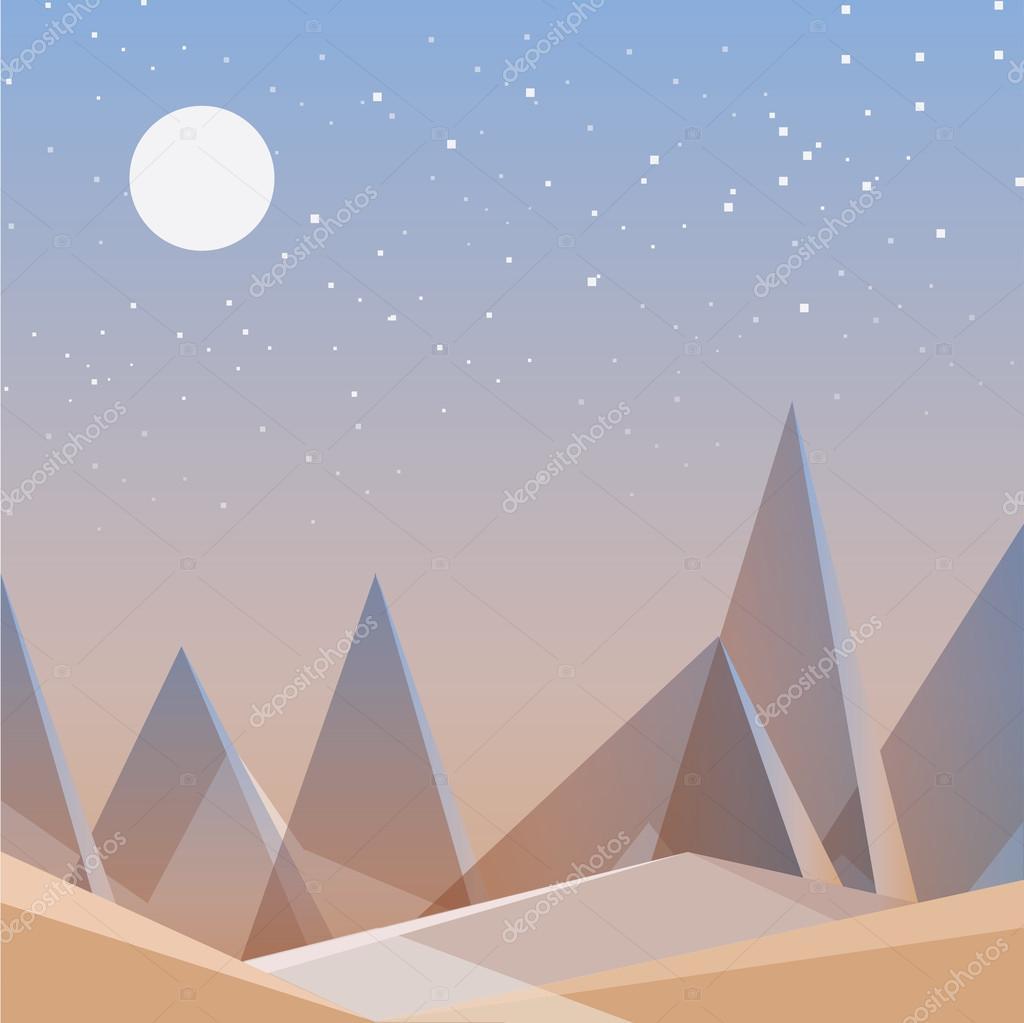 Abstract desert landscape wallpaper