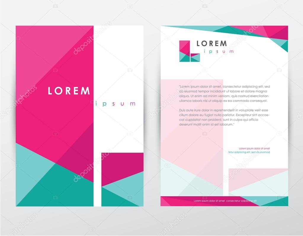 folleto portada y membrete plantilla dise u00f1o  u2014 archivo