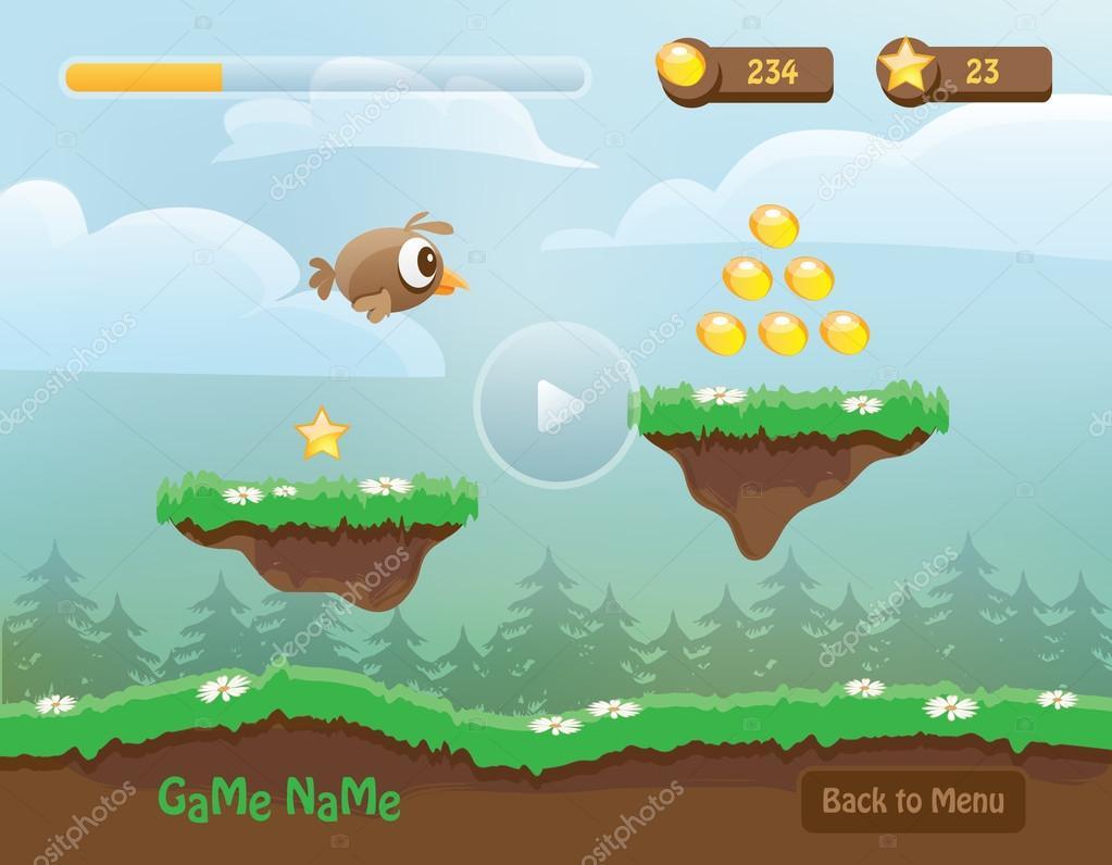 Game landscape level background