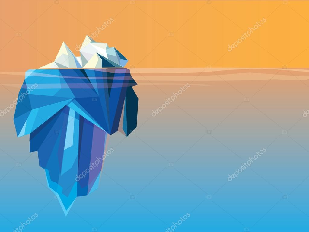 Poly style iceberg landscape
