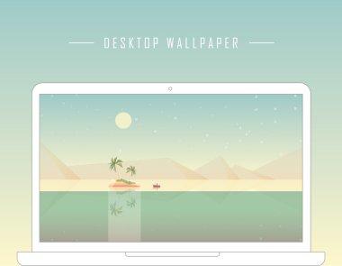 Geometric minimalistic computer desktop wallpaper