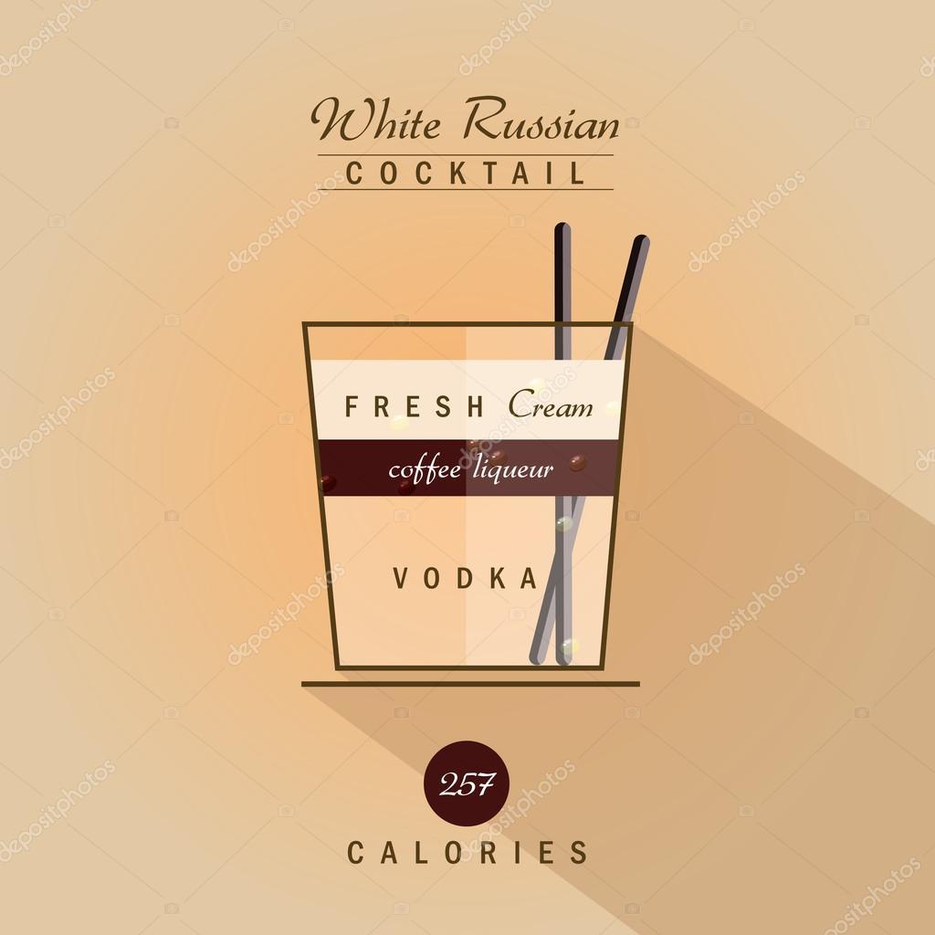 Recette boisson cocktail russe blanc image vectorielle for Cocktail russe blanc