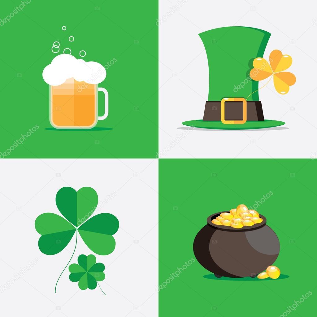 irsko st patricks den symboly u2014 stock vektor dianahlevnjak