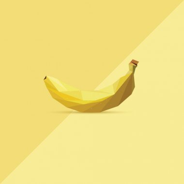 banana in low polygon style