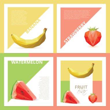 fruit bar graphic design cards