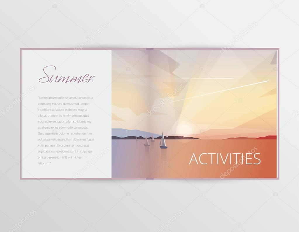 Summer sports and activities concept