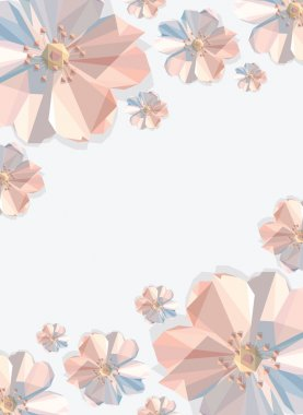 Trendy background with flowers