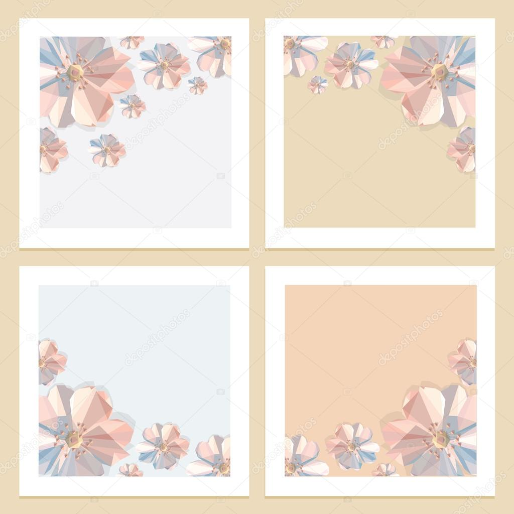 four beautiful floral backgrounds — stock vector © dianahlevnjak