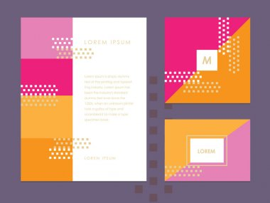 Letterhead template, business card and brochure cover