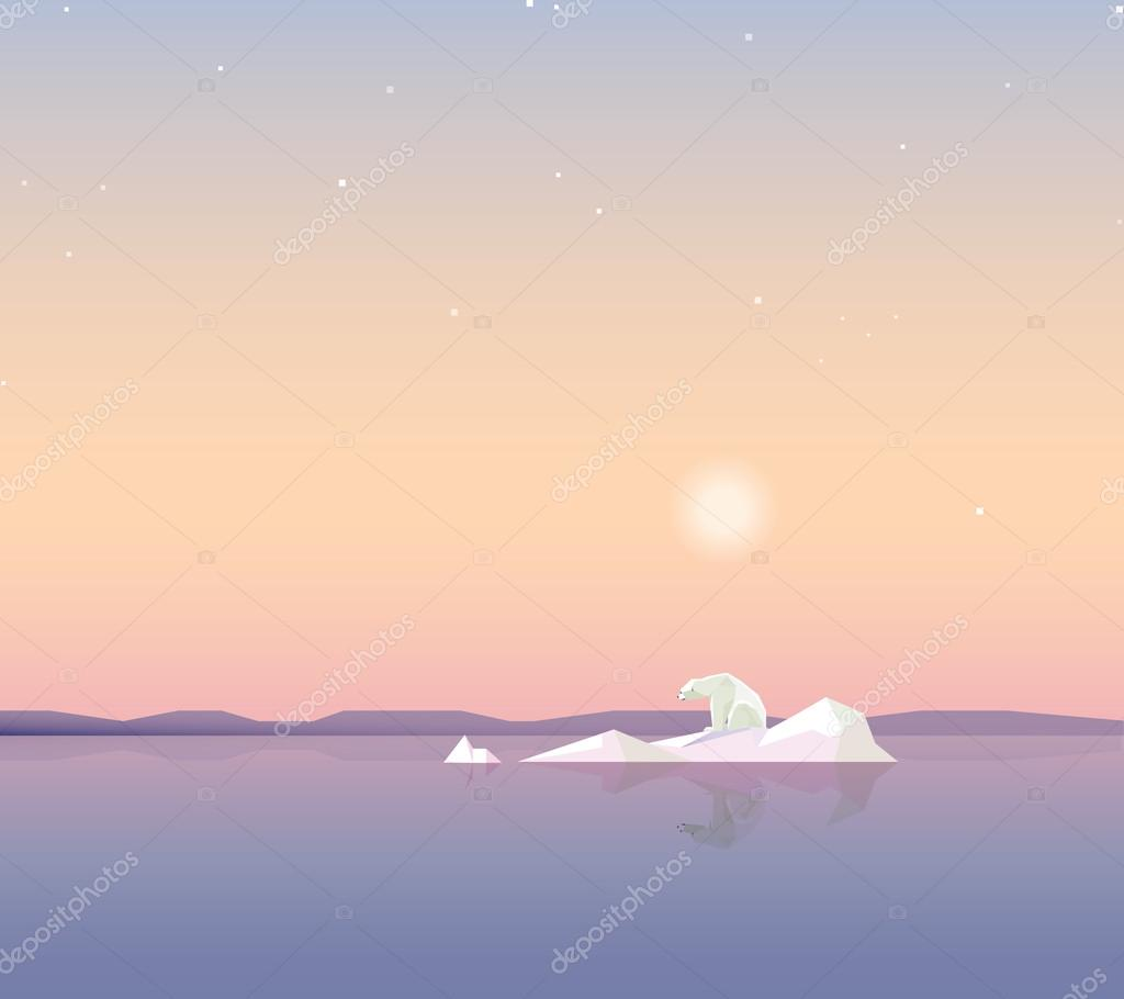 polar bear on the iceberg