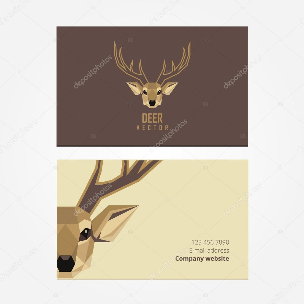 business cards with deer head logo — Stock Vector © DianaHlevnjak ...