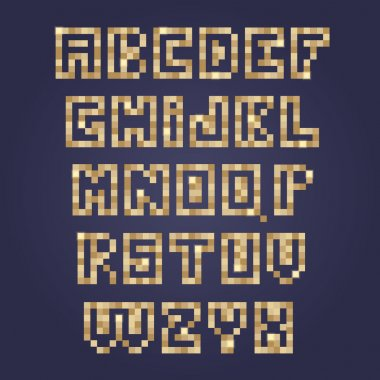 mosaic tiles font