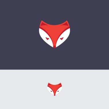 simplified fox head logo