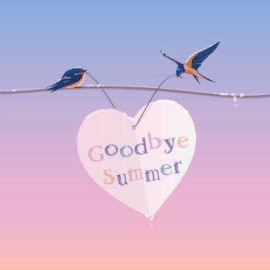 Summer ending concept