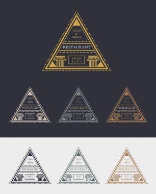 Triangle shaped Restaurant logos