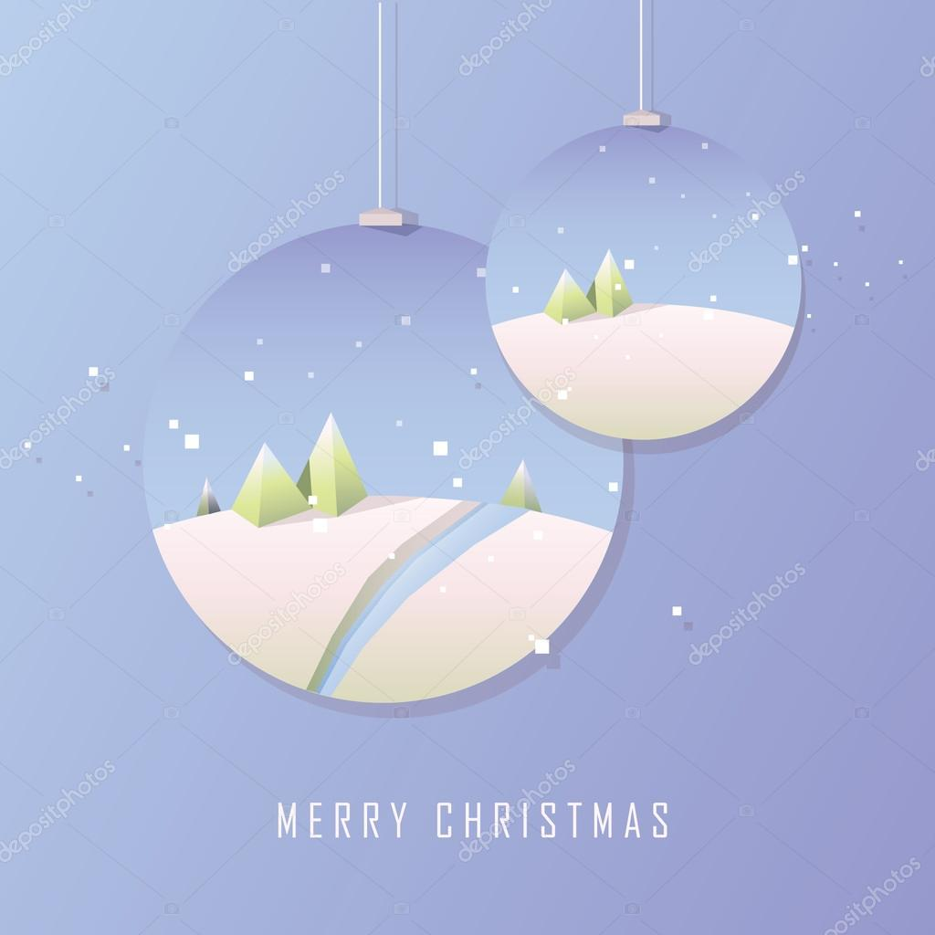 geometric minimalistic Merry Christmas card