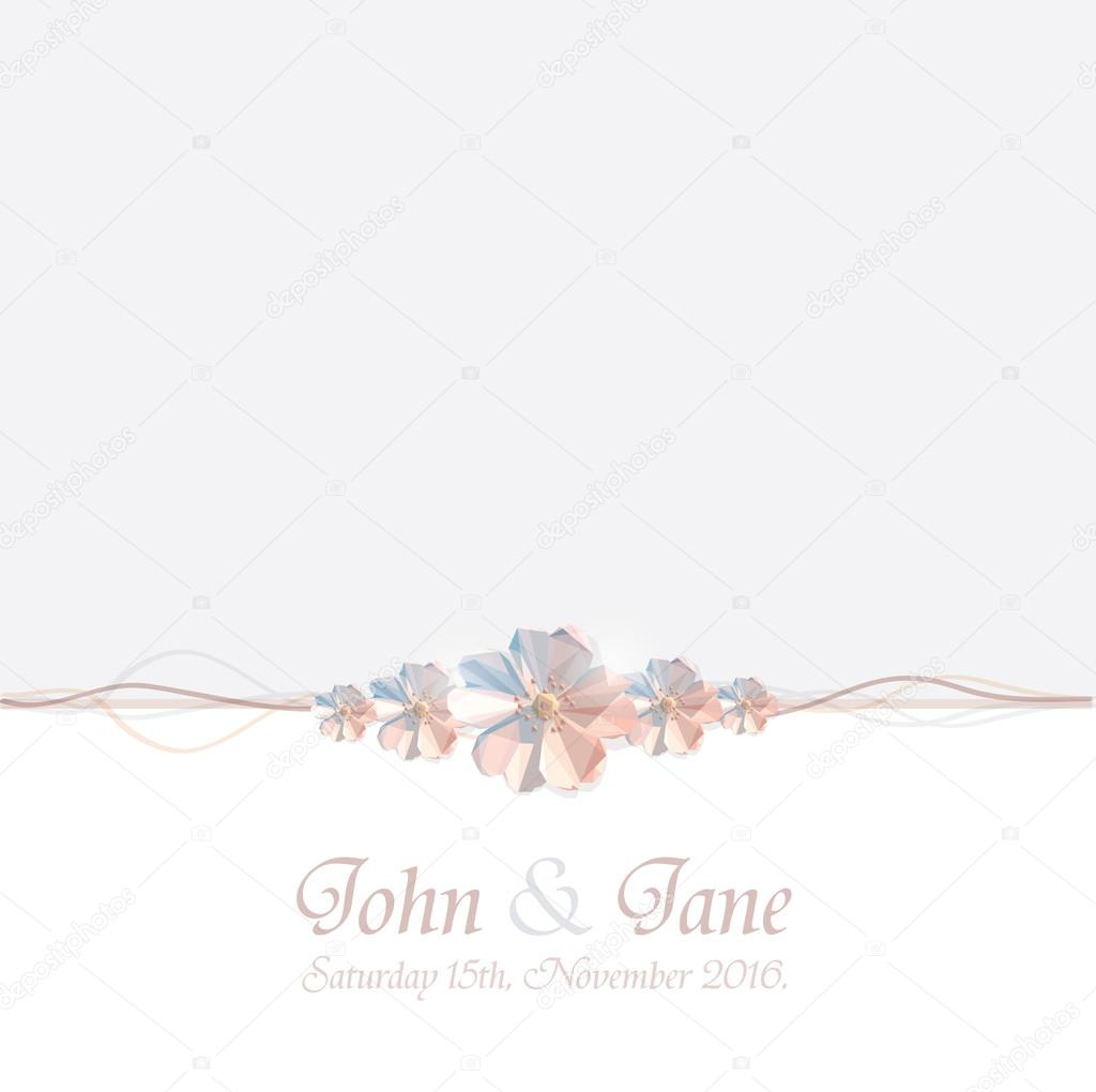 Minimalistic beautiful wedding invitation card