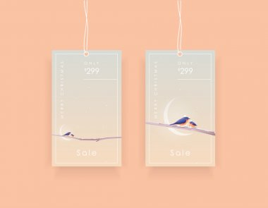 tags templates with two bluebirds
