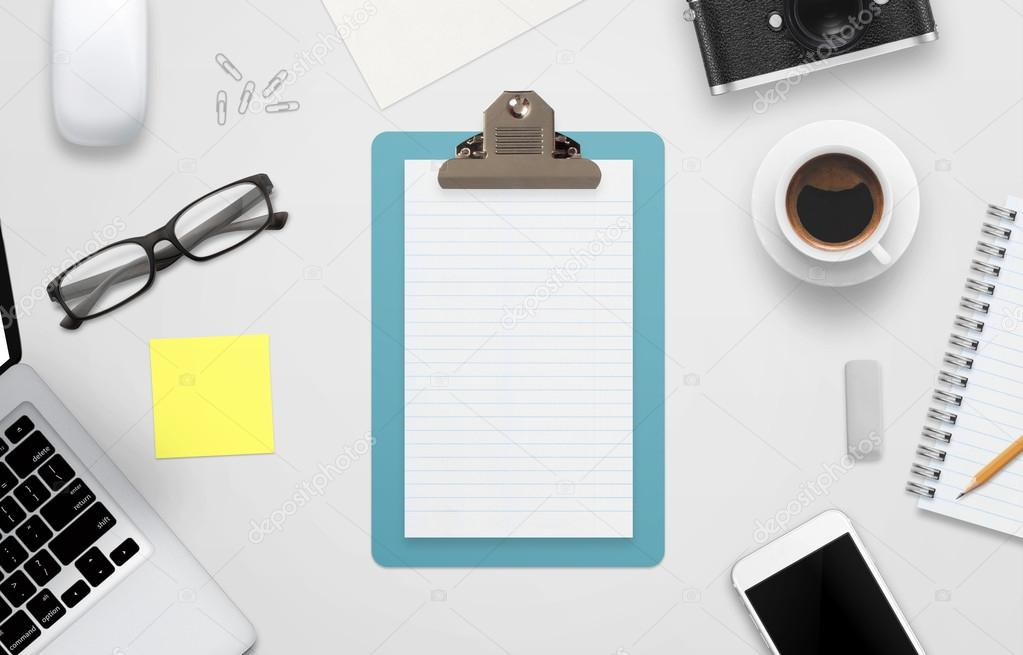 Notebook Surrounded With Office Accessories U2014 Stock Photo