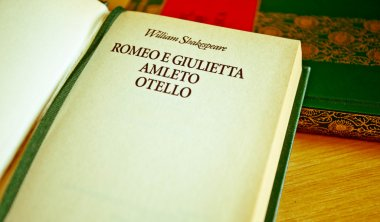 William Shakespeare literature: Romeo and Juliet, Othello, Hamle