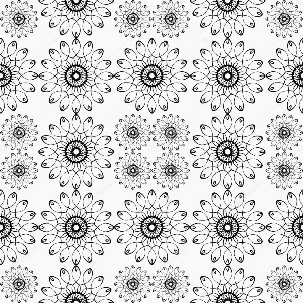 4f71dcf9d6 Reticoli etnici in bianco e nero. Decorazioni geometriche e Aztechi eleme–  immagine stock