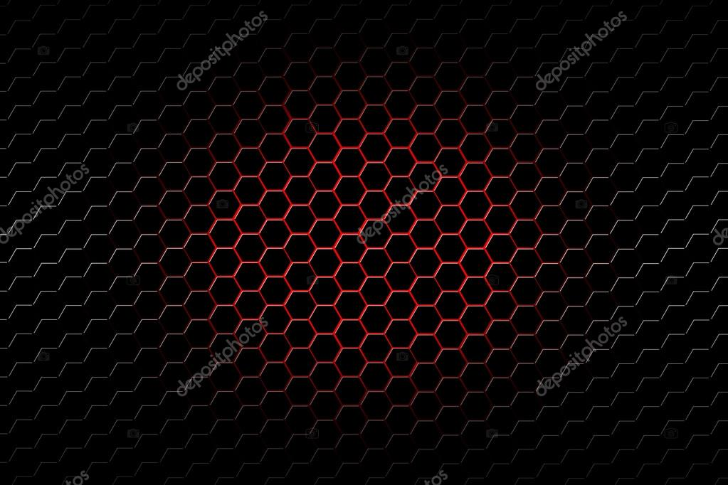 Red And Black Metallic Mesh Background Texture Stock Photo