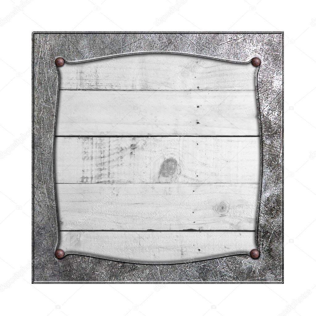 set 8. marco de metal en madera rústica blanca — Fotos de Stock ...